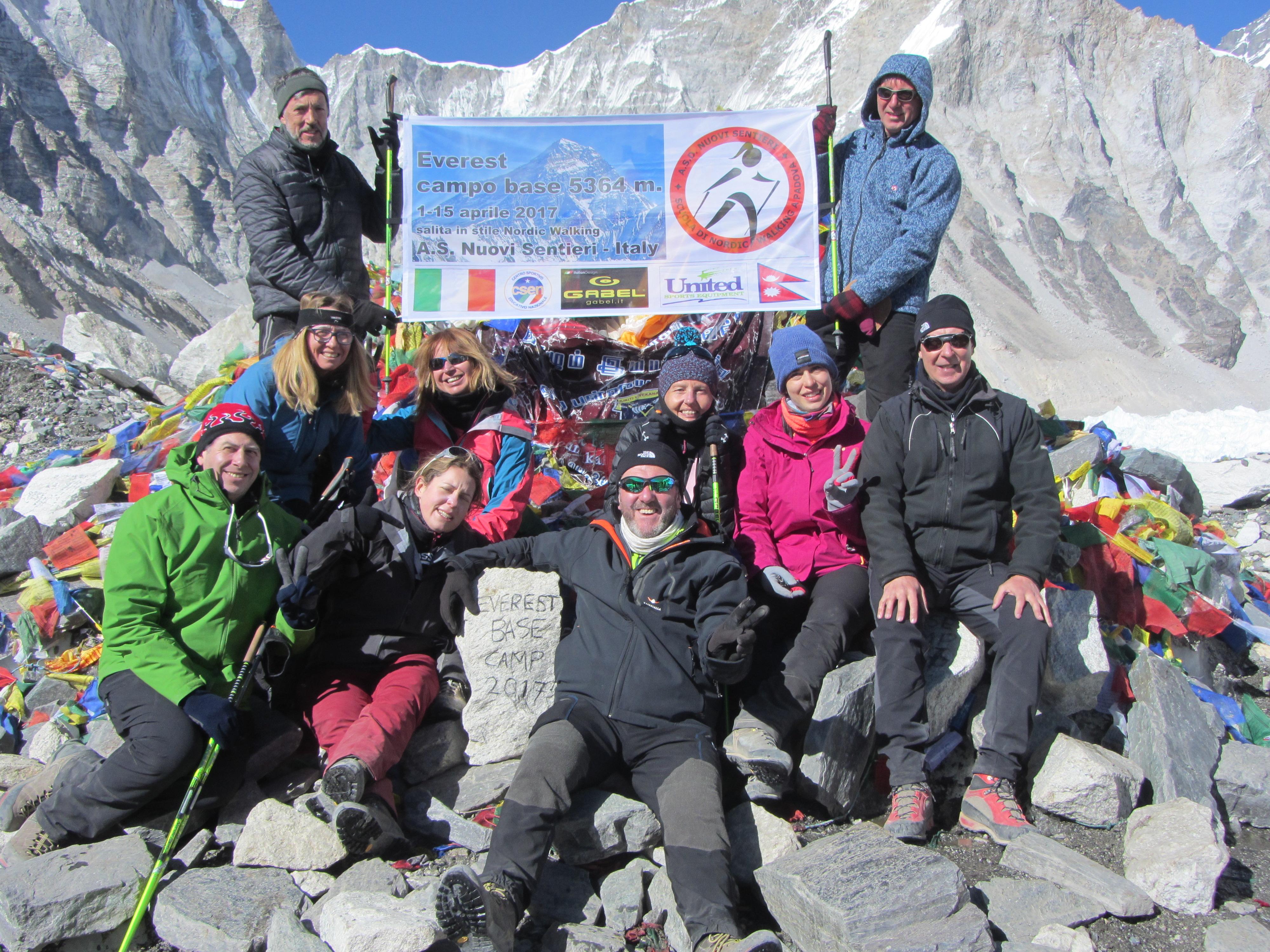 Nordic Walking Vicenza Calendario.Salita Al Campo Base Dell Everest In Stile Nordic Walking
